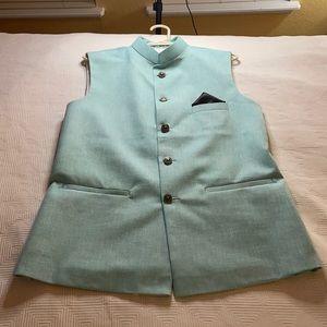 Men's Indian Nehru Modi Wedding Vest Size Small
